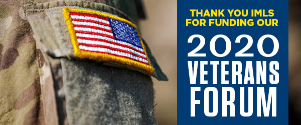 Thank you IMLS for funding our 2020 Veterans Forum