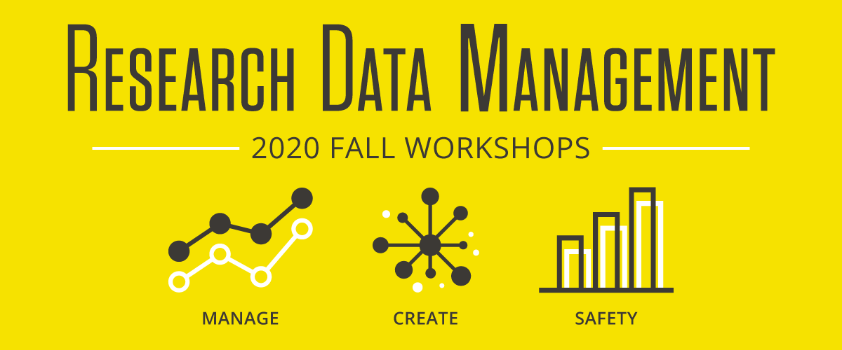 Research Data Management - 2020 Fall Workshops